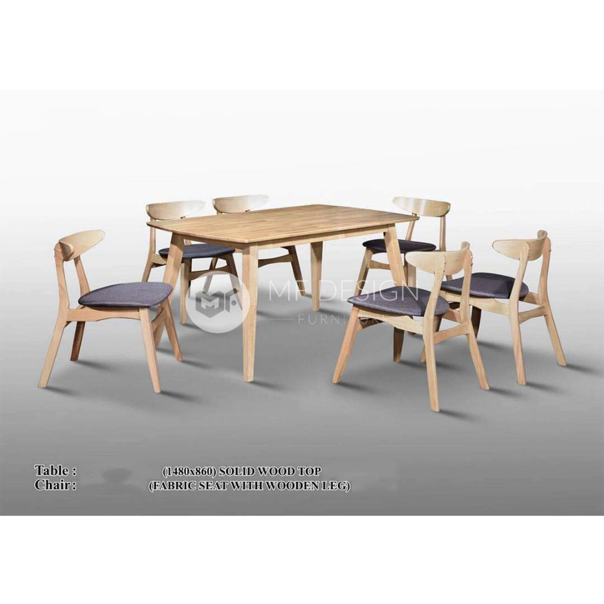 mfdesign88 Dining Sets Jaxson Dining Set ( 1 Table + 6 Chairs  )