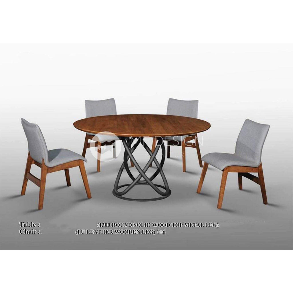 Liam Dining Set 1 Table 6 Chairs Mf Design Premium Selection Malaysian Favourite Design Furniture