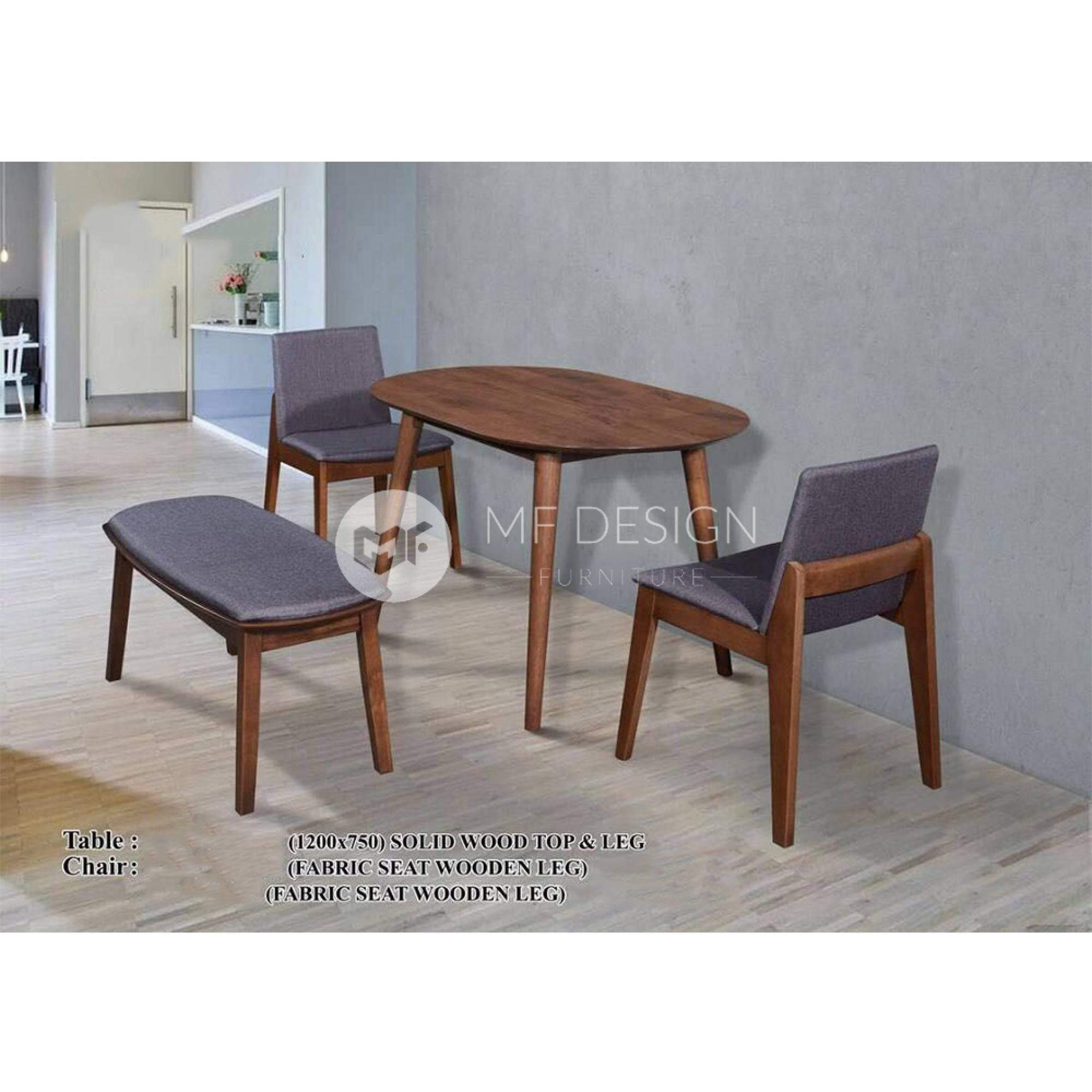 mfdesign88 Dining Sets Lino Dining Set (2 Chairs + 1 Bench)