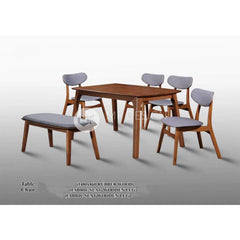 mfdesign88 Dining Sets Maisie Dining Set ( 1 Table + 4 Chairs + 1 Bench )