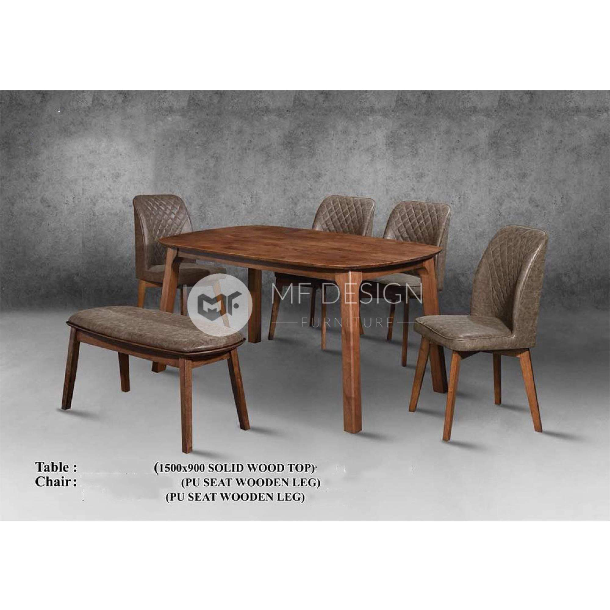mfdesign88 Dining Sets Maisie Dining Set ( 1 Table + 4 Chairs  + Bench )