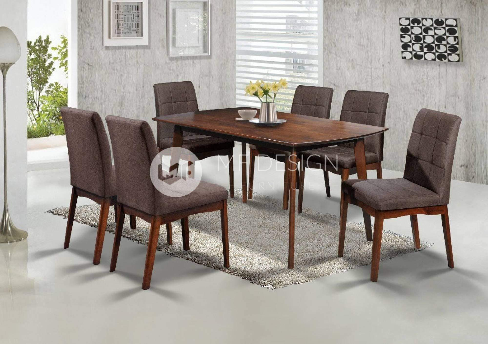 mfdesign88 Dining Sets MF DESIGN ALYA DINING SET 1+6
