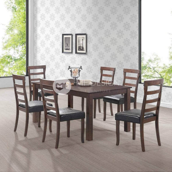 mfdesign88 Dining Sets Oakley Dining Set ( 1 Table + 6 Chairs )