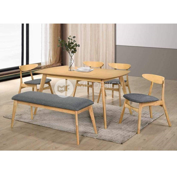 mfdesign88 Dining Sets Vident 1+4+Bench Dining  Set