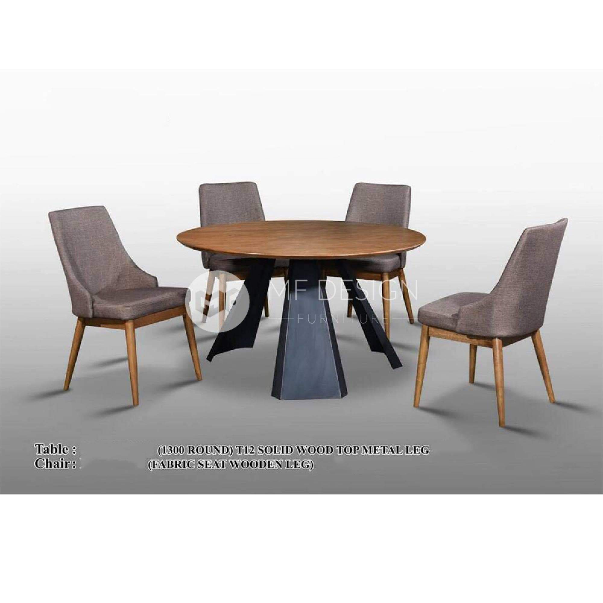 mfdesign88 Dining Sets Wiliam Dining Set ( 1 Table + 4 Chairs )