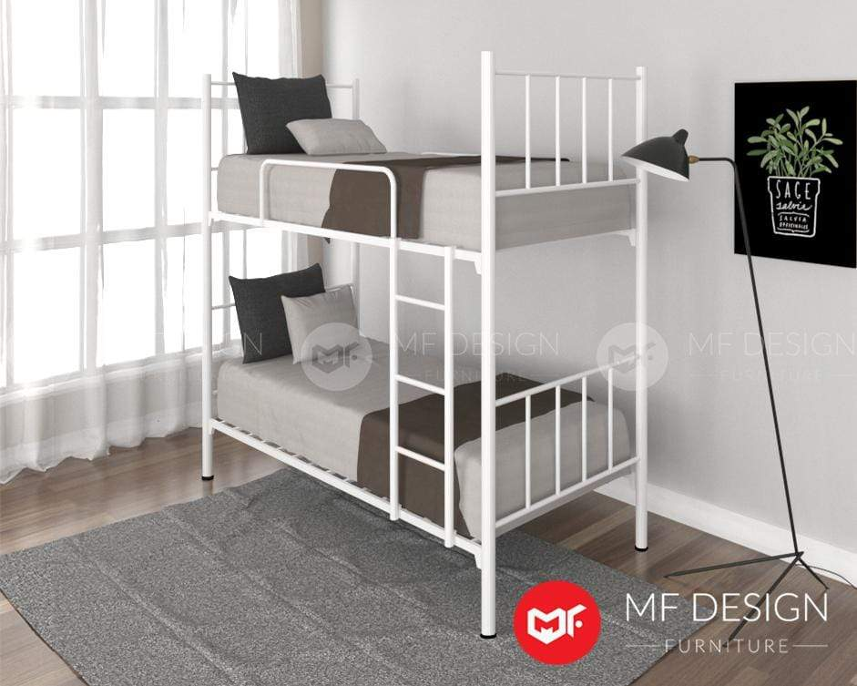 51 Double Decker MF DESIGN Mark Strong Metal Super Base Double Decker Single (Iron Bed Frame)