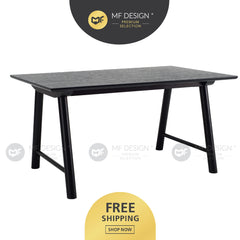 MFD Premium Ernest Dining Table (1.5M) Meja Makan Study Table Office Table Computer Table Meja Study Meja Murah