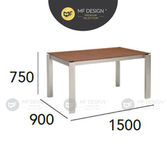 MFD Premium Elwood Dining Table (1.8M/1.5M) Meja Makan Study Table Office Table Computer Table Meja Study Meja Murah