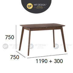 MFD Premium Everly Dining Table (1.2M) Meja Makan Study Table Office Table Computer Table Meja Study Meja Murah