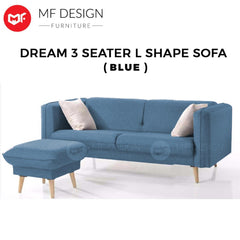 MF DESIGN DREAM L SHAPE SOFA ( GREY )