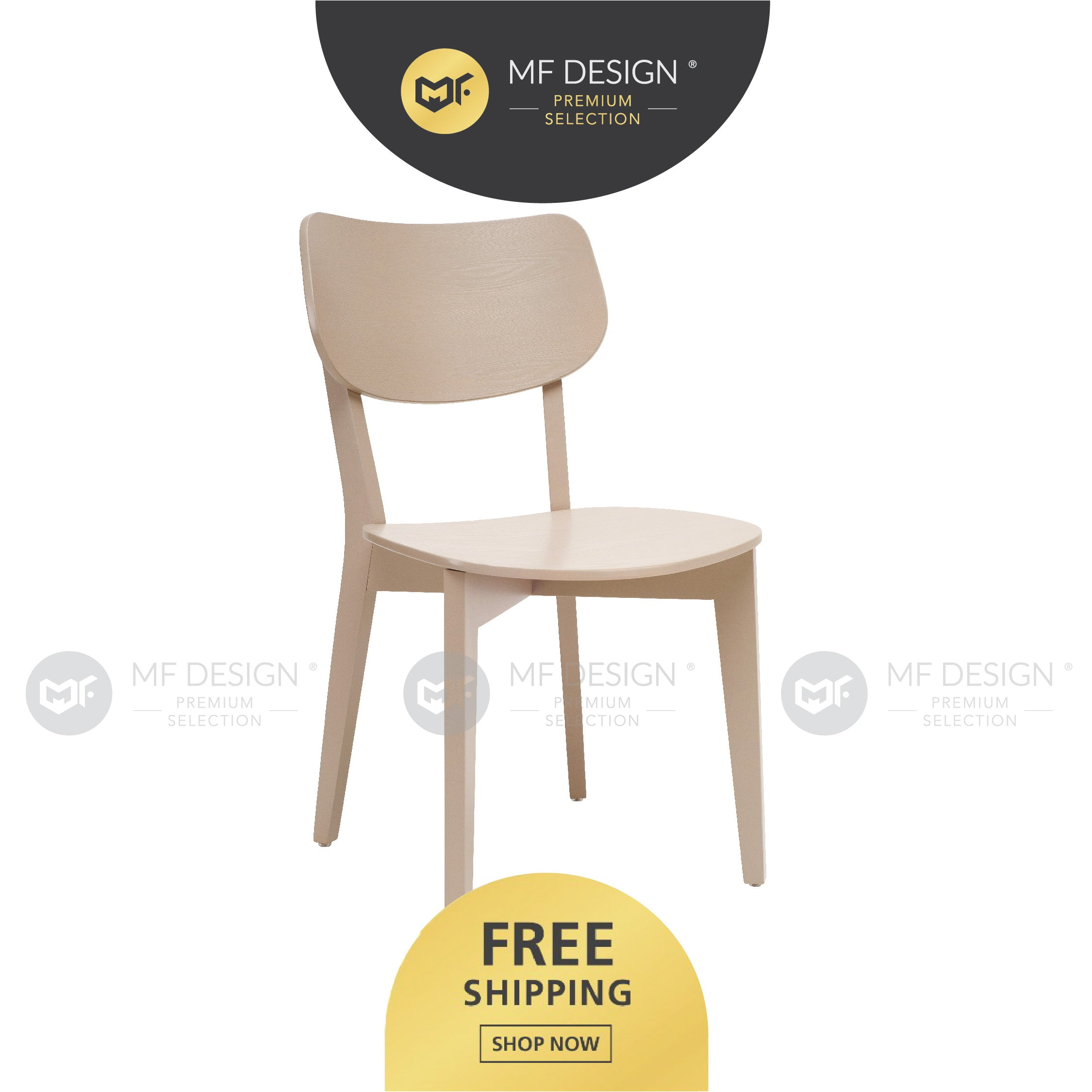 MFD Premium Griffin Dining Chair / Wooden Chair / Solid Rubber Wood / Kerusi Makan Kayu Getah / Living Room