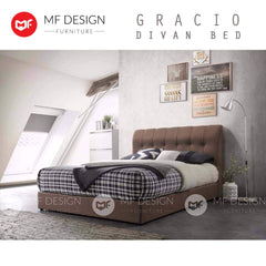 mfdesign88 GRACIO DIVAN BED+LUXES HOT TOPIC QUEEN SIZE VALUE SET