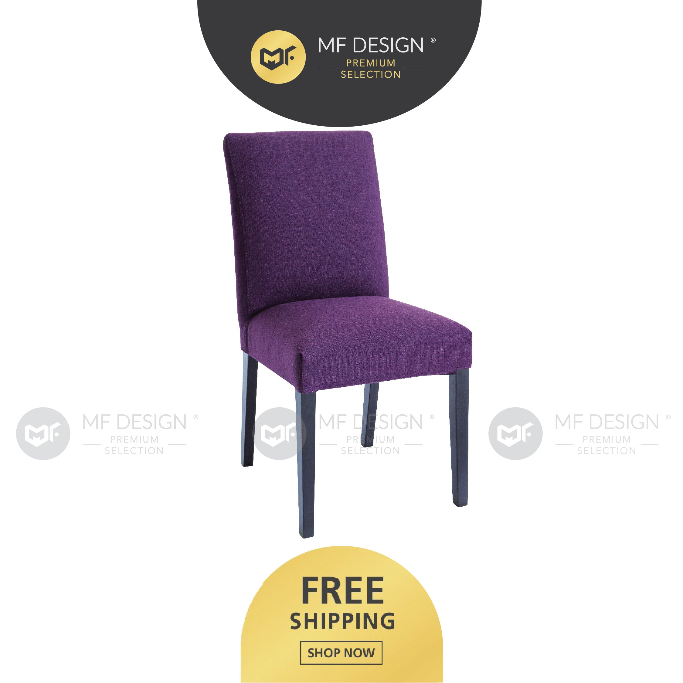 MFD Premium Hilda Dining Chair / Wooden Chair / Solid Rubber Wood / Kerusi Makan Kayu Getah / Living Room / Scandinavian