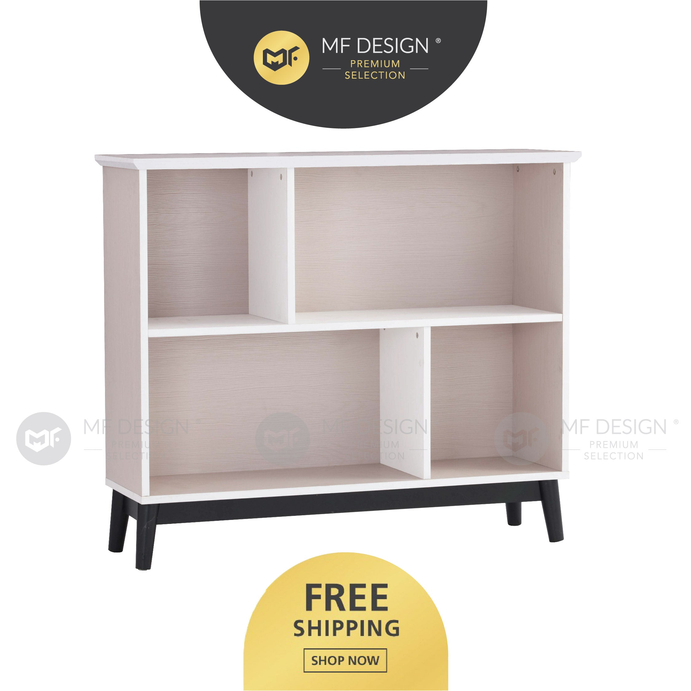 MFD Premium Haze Bookcase Rak Buku Shelf Display Rack Storage Rack Rak Dapur Filling Cabinet Almari Buku