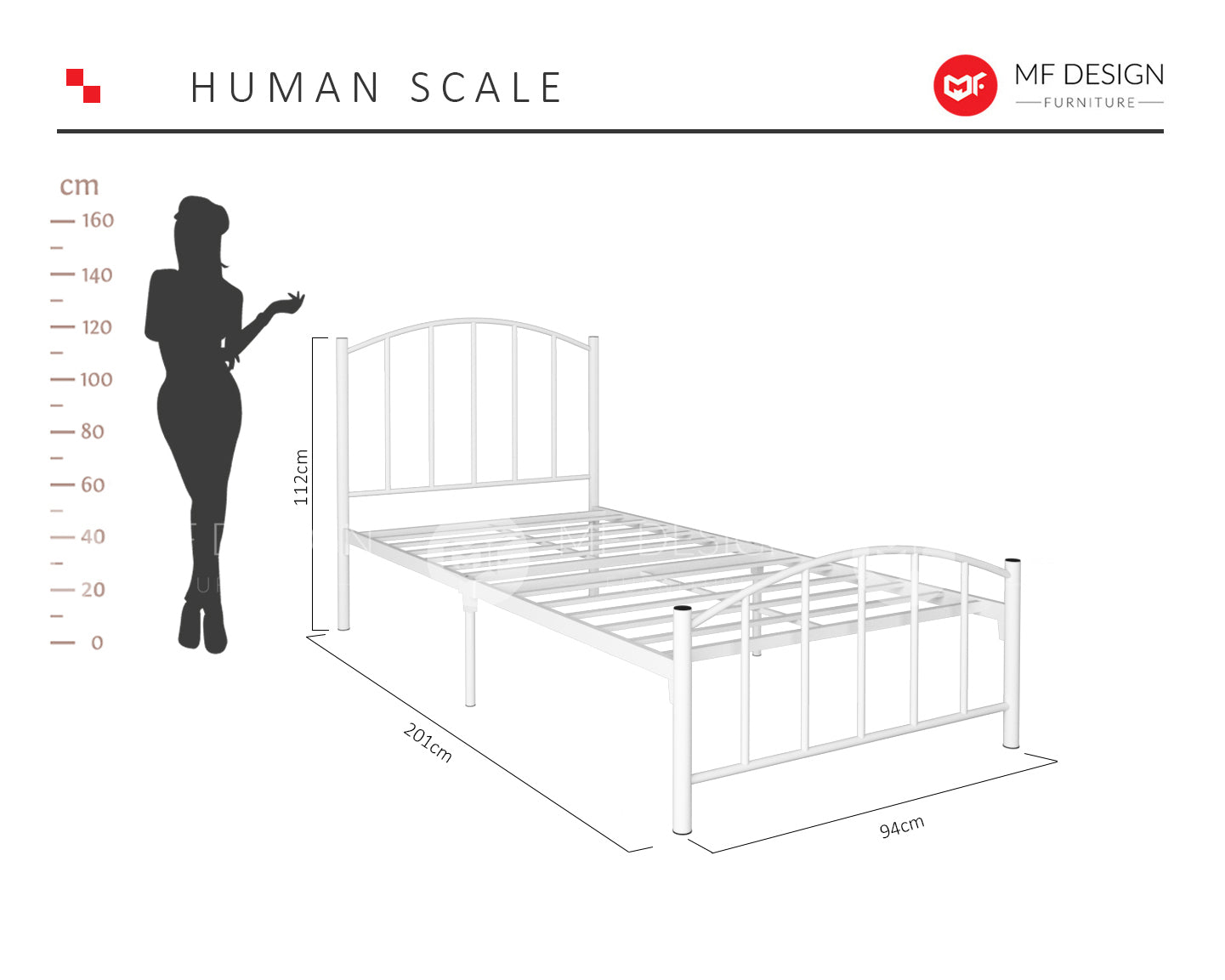 Kingdom Single Metal Bed