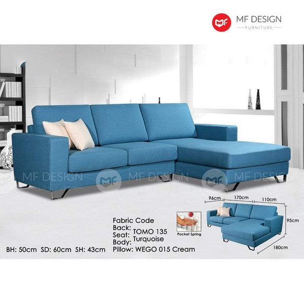 11 L-Shape Sofa MF DESIGN LIVEN L SHAPE SOFA (POKET SPRING) 9 FT
