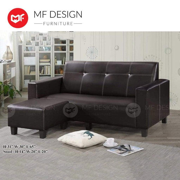 mfdesign88 L-Shape Sofa MF DESIGN SCARLET 3 SEATER L SHAPE SOFA