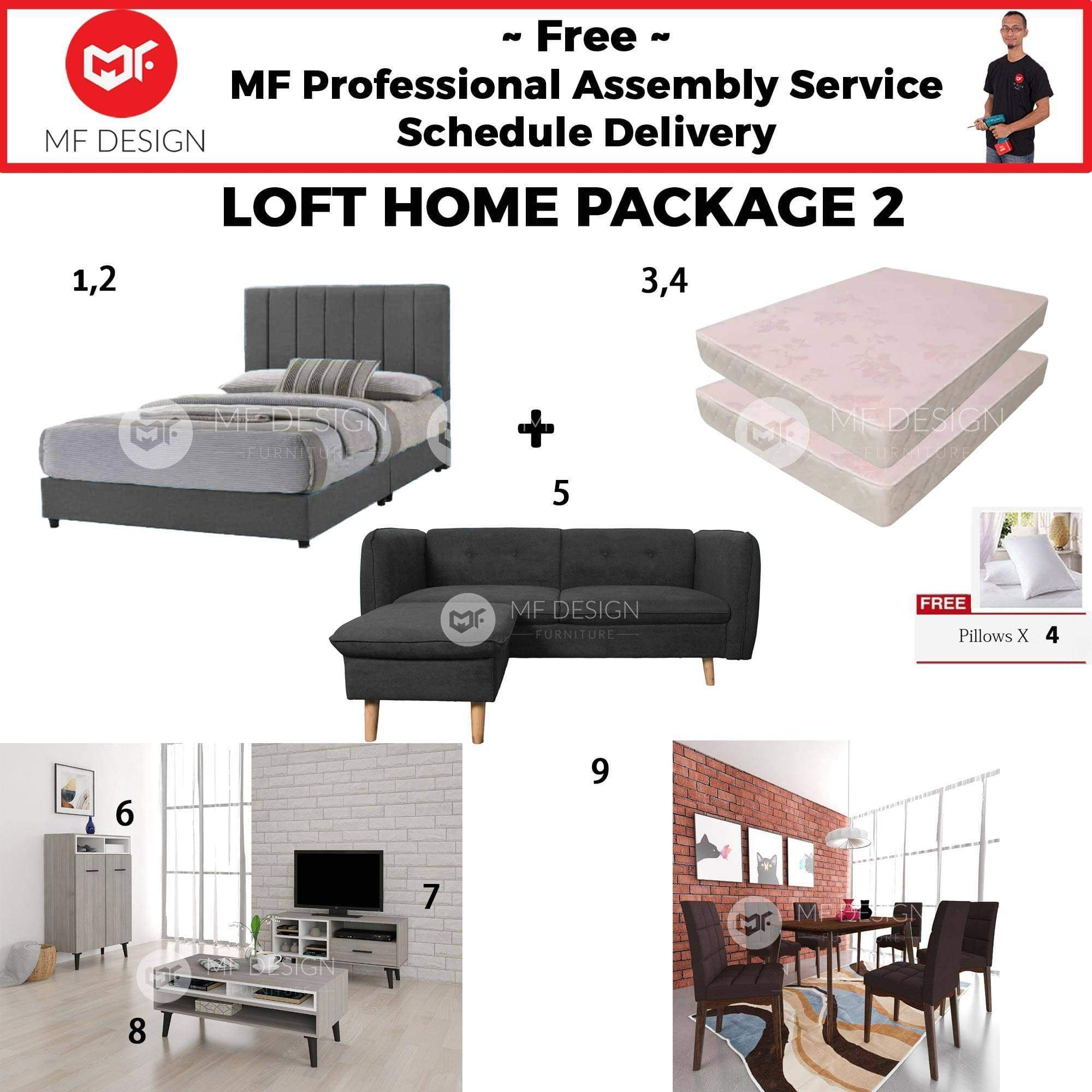 mfdesign88 LOFT HOME PACKAGE 2 (3 BEDROOM) (HOME PACKAGE)