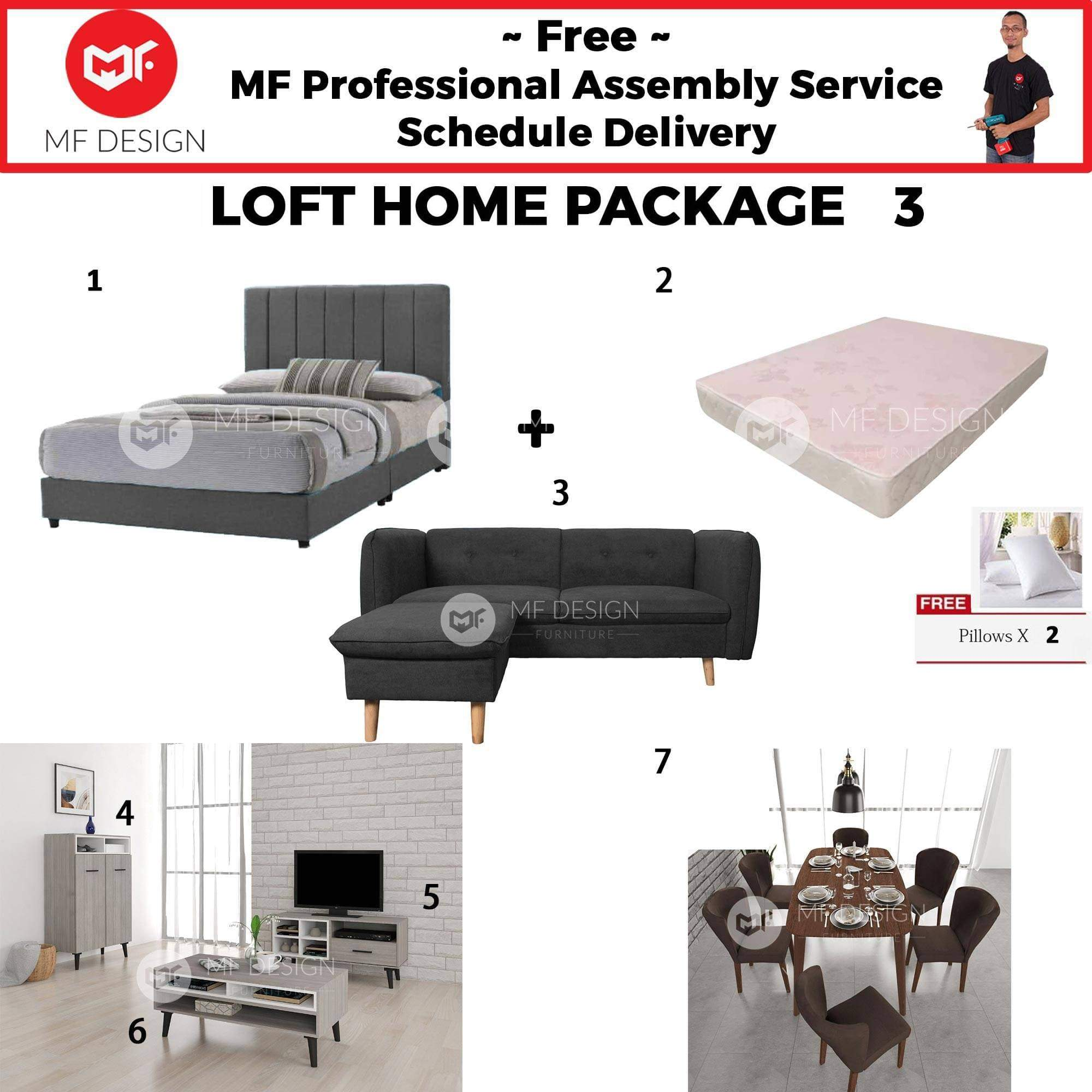 mfdesign88 LOFT HOME PACKAGE 3 (2 BEDROOM) (HOME PACKAGE)