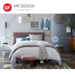 mfdesign88 LOUIS FABRIC DIVAN BED (COCOA)