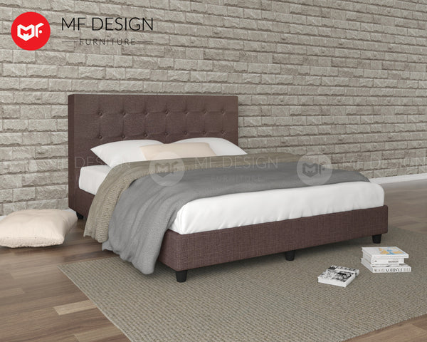 LOUIS FABRIC DIVAN BED (COCOA)