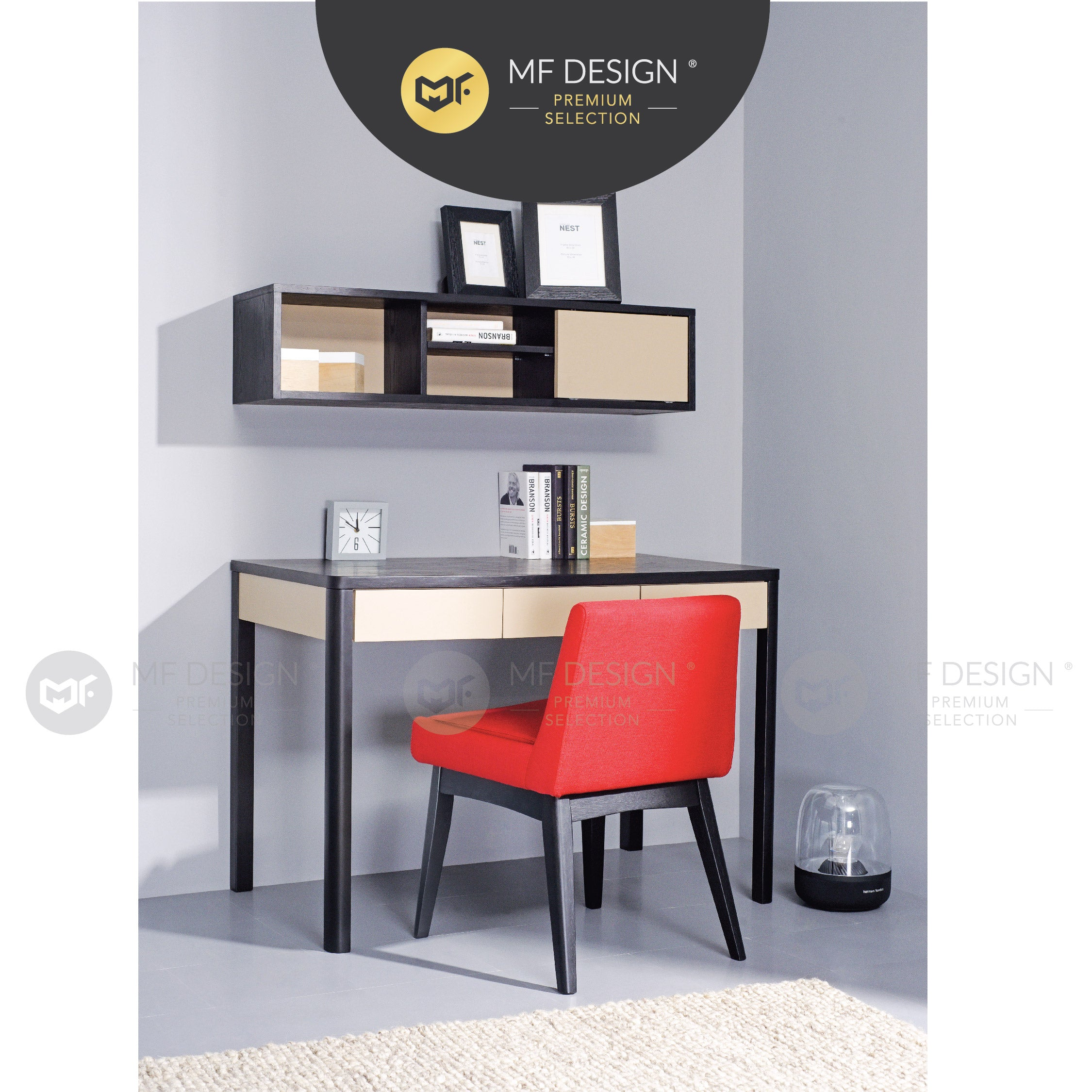 MFD Premium Madonna Working Desk & Wall Storage Unit