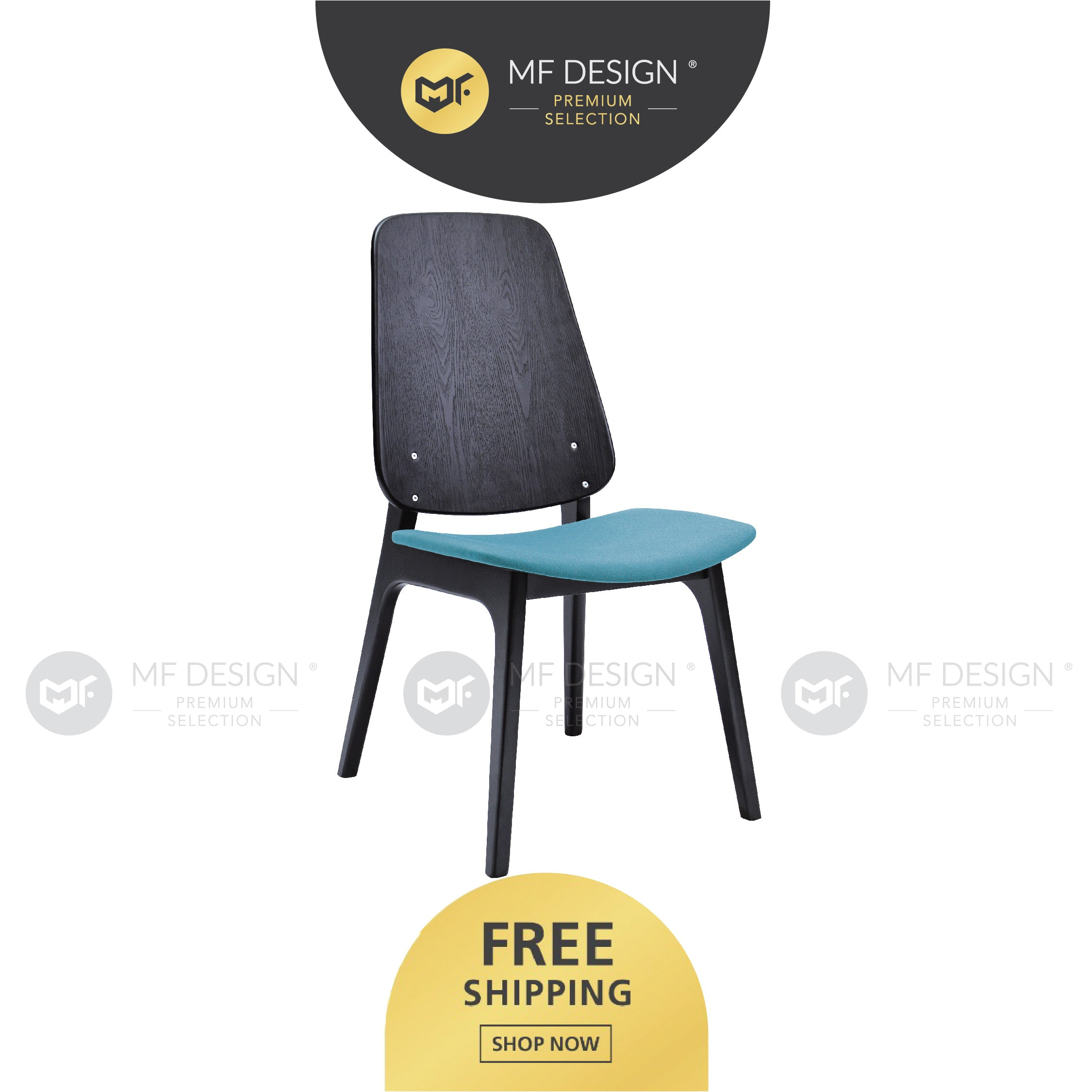 MFD Premium Marco Dining Chair/ Wooden Chair / Solid Rubber Wood / Kerusi Makan Kayu Getah / Living Room / Scandinavian