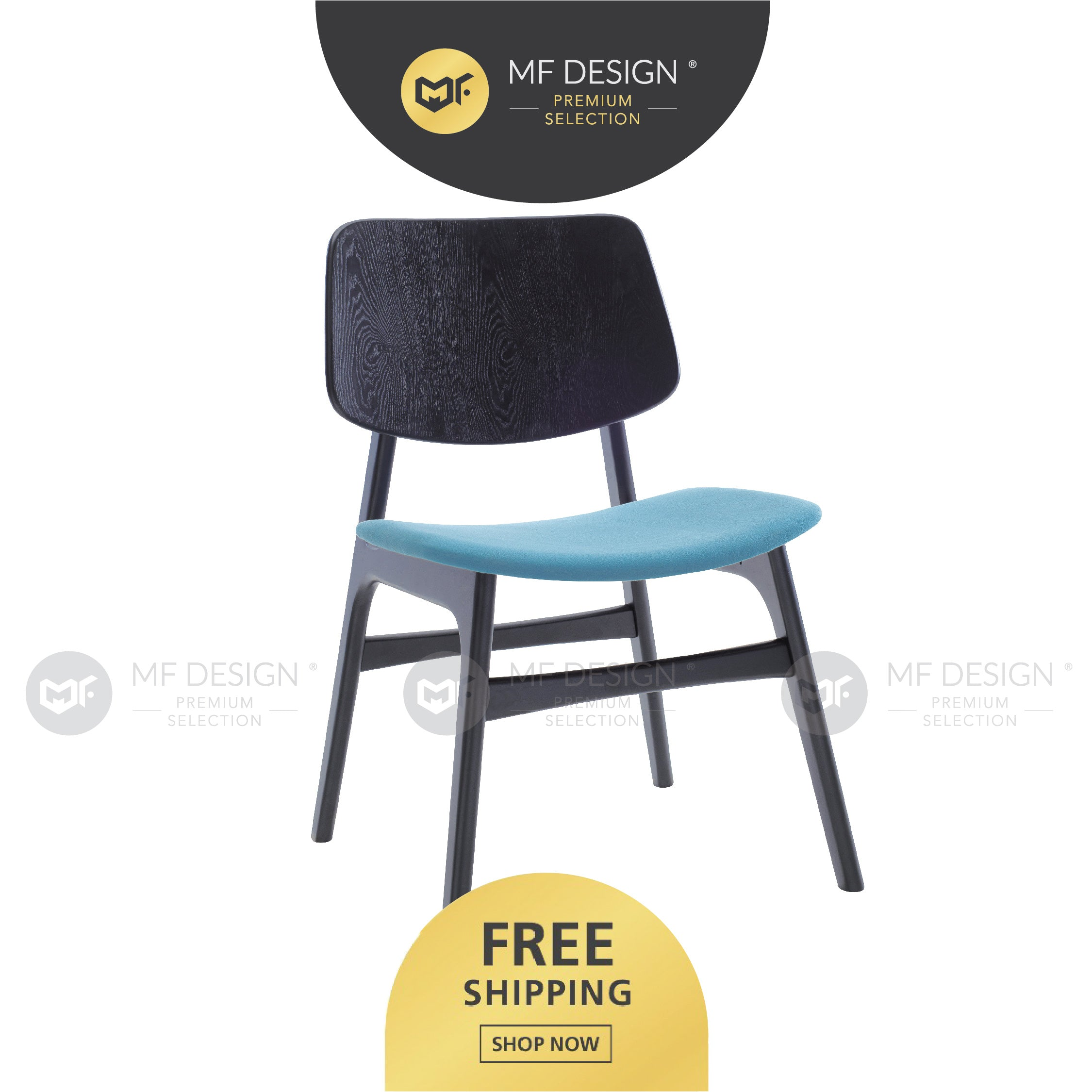MFD Premium Magnes Dining Chair / Wooden Chair / Solid Rubber Wood / Kerusi Makan Kayu Getah / Living Room /Scandinavian