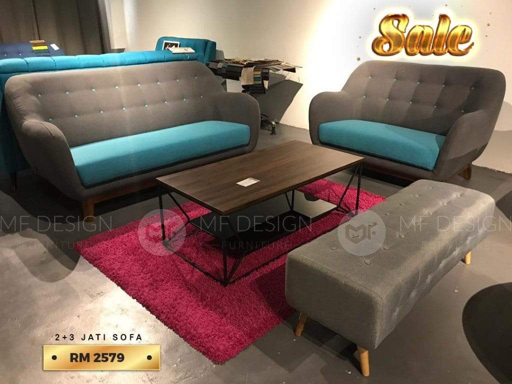 mfdesign88 MF DESIGN 2 SEATER + 3 SEATER SOFA SET KAYU JATI (SALES 05)