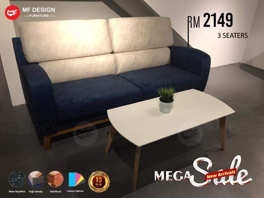 mfdesign88 MF DESIGN 3 SEATER JATI SOFA SET