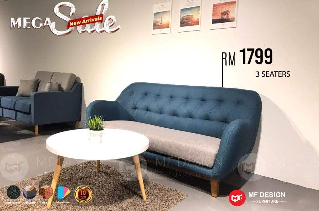 mfdesign88 MF DESIGN 3 SEATER SOFA KAYU JATI