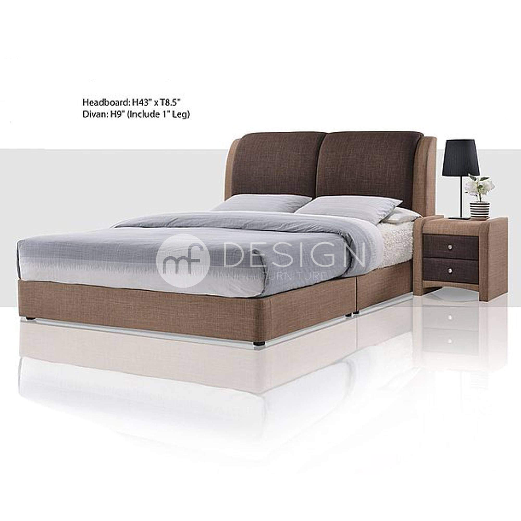 mfdesign88 MF DESIGN KOY DIVAN BED FRAME SINGLE QUEEN KING MALAYSIA
