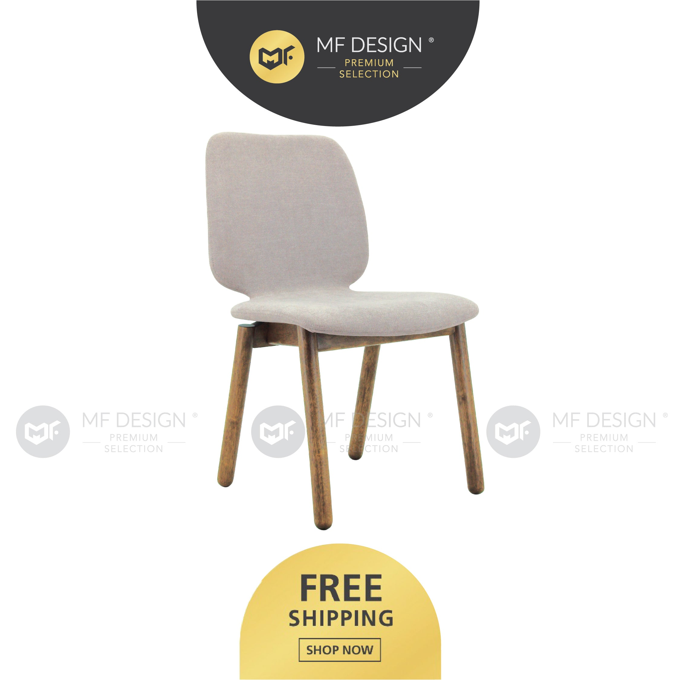 MFD Premium Mable Dining Chair  /Wooden Chair / Solid Rubber Wood / Kerusi Makan Kayu Getah / Living Room / Scandinavian