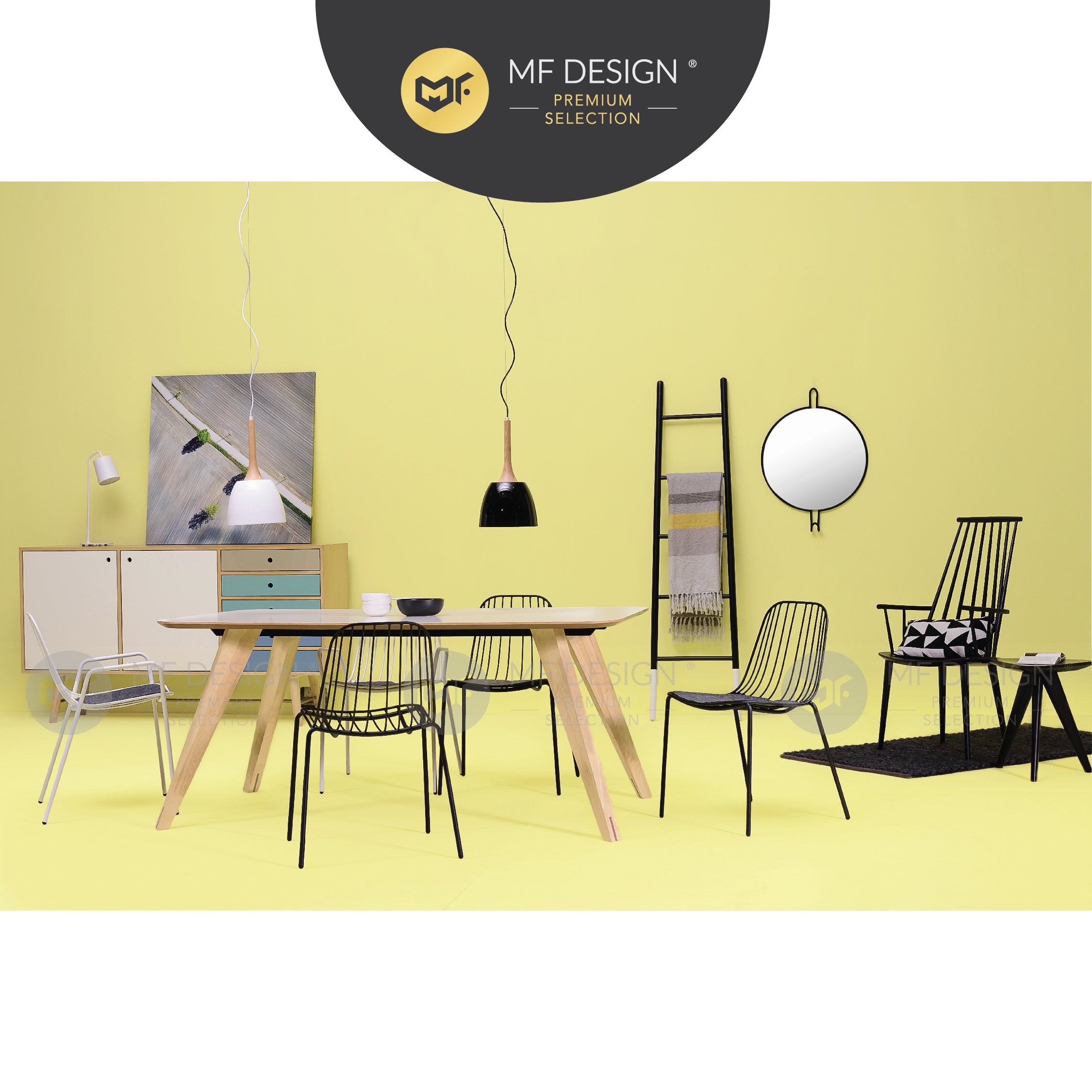 MFD Premium Naomi Dining Chair / Wooden Chair / Solid Rubber Wood / Kerusi Makan Kayu Getah / Living Room / Scandinavian