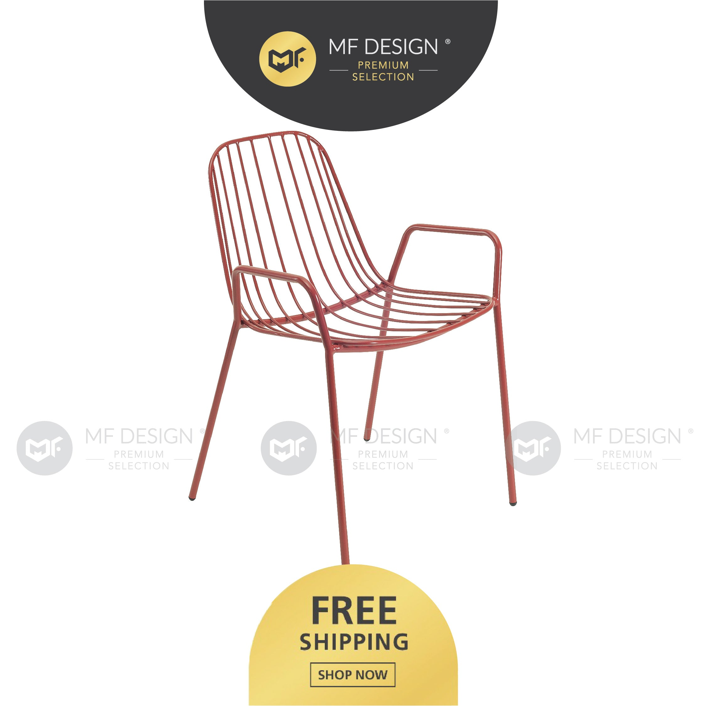 MFD Premium Nance Dining Chair / Wooden Chair / Solid Rubber Wood / Kerusi Makan Kayu Getah / Living Room / Scandinavian