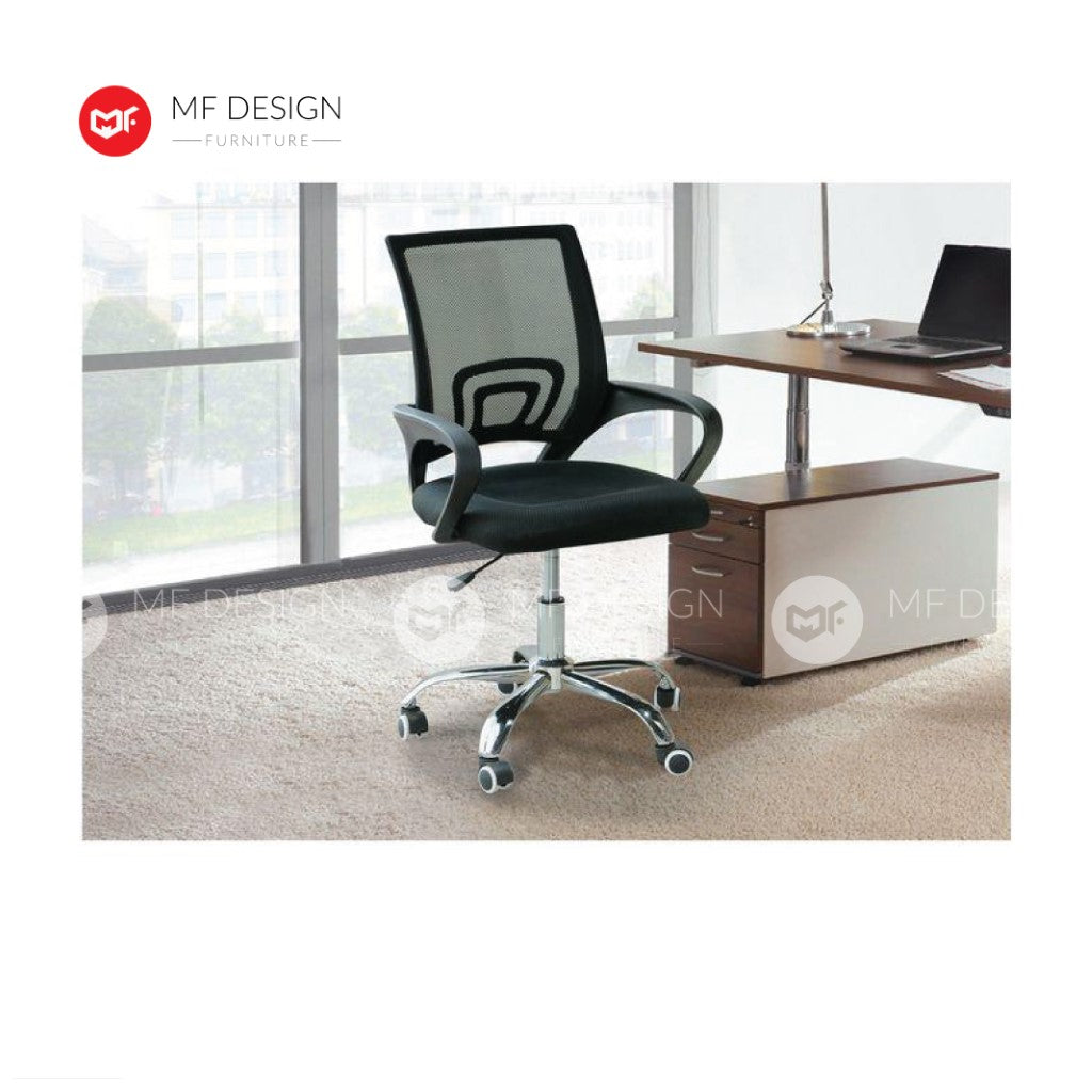 mf design Lavender Office Chair & Chrome Leg / Kerusi Pejabat / Kerusi Roda /Height Adjustable Swivel / gaming kerusi office /