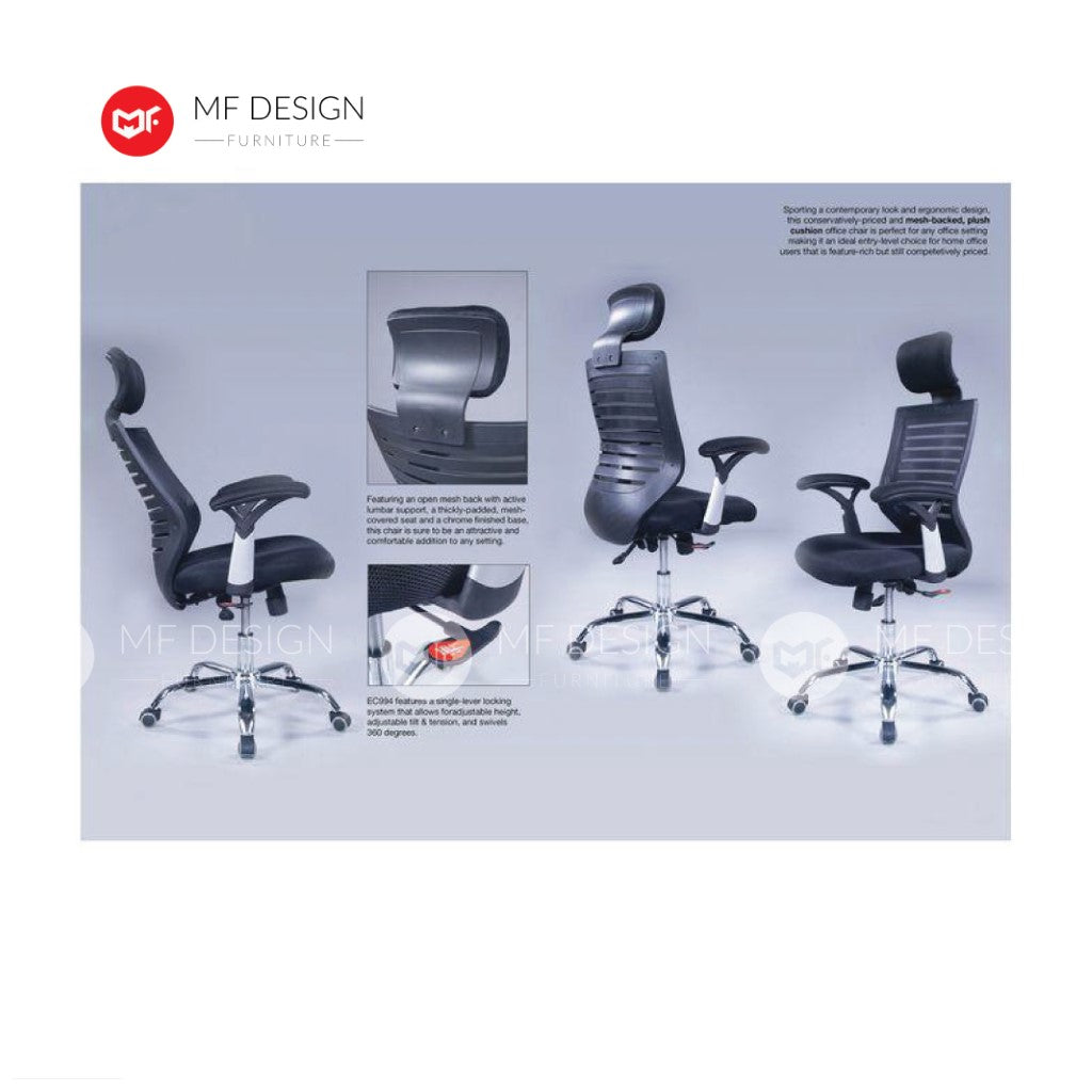mf design diame Office Chair & Chrome Leg / Kerusi Pejabat / Kerusi Roda /Height Adjustable Swivel / gaming kerusi office /