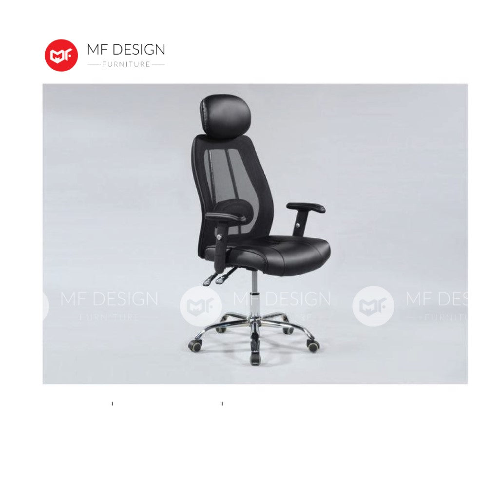 mf design yame Office Chair & Chrome Leg / Kerusi Pejabat / Kerusi Roda /Height Adjustable Swivel / gaming kerusi office /