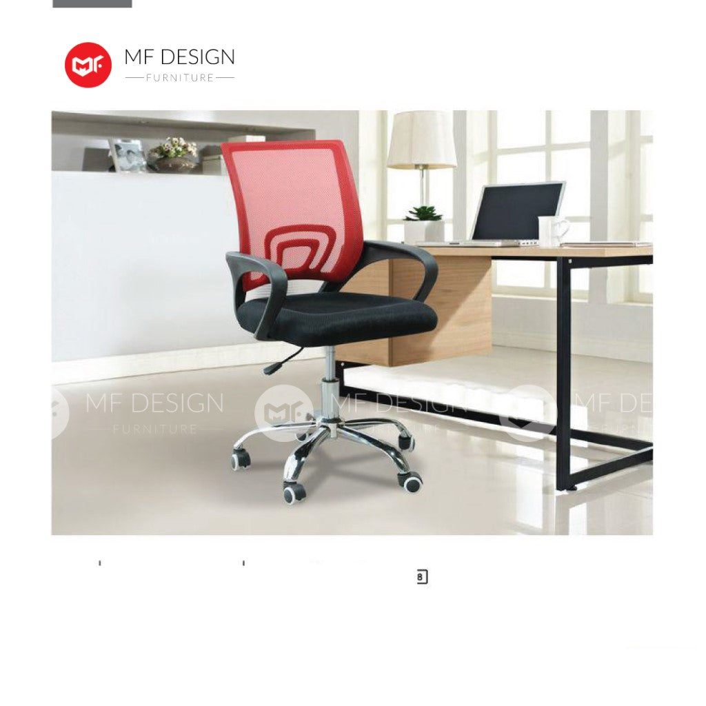 mf design redle Office Chair & Chrome Leg / Kerusi Pejabat / Kerusi Roda /Height Adjustable Swivel / gaming kerusi office /