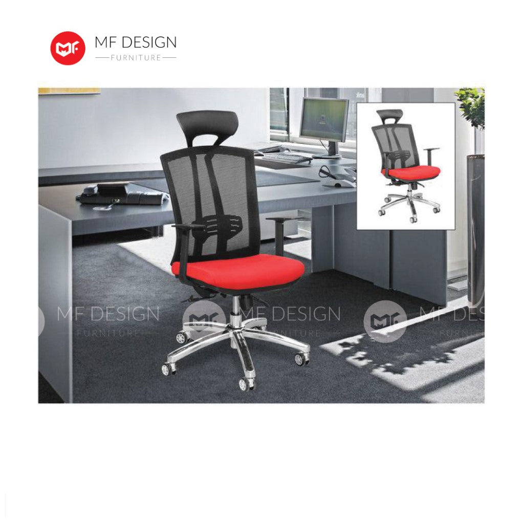 mf design jana Office Chair & Chrome Leg / Kerusi Pejabat / Kerusi Roda /Height Adjustable Swivel / gaming kerusi office /