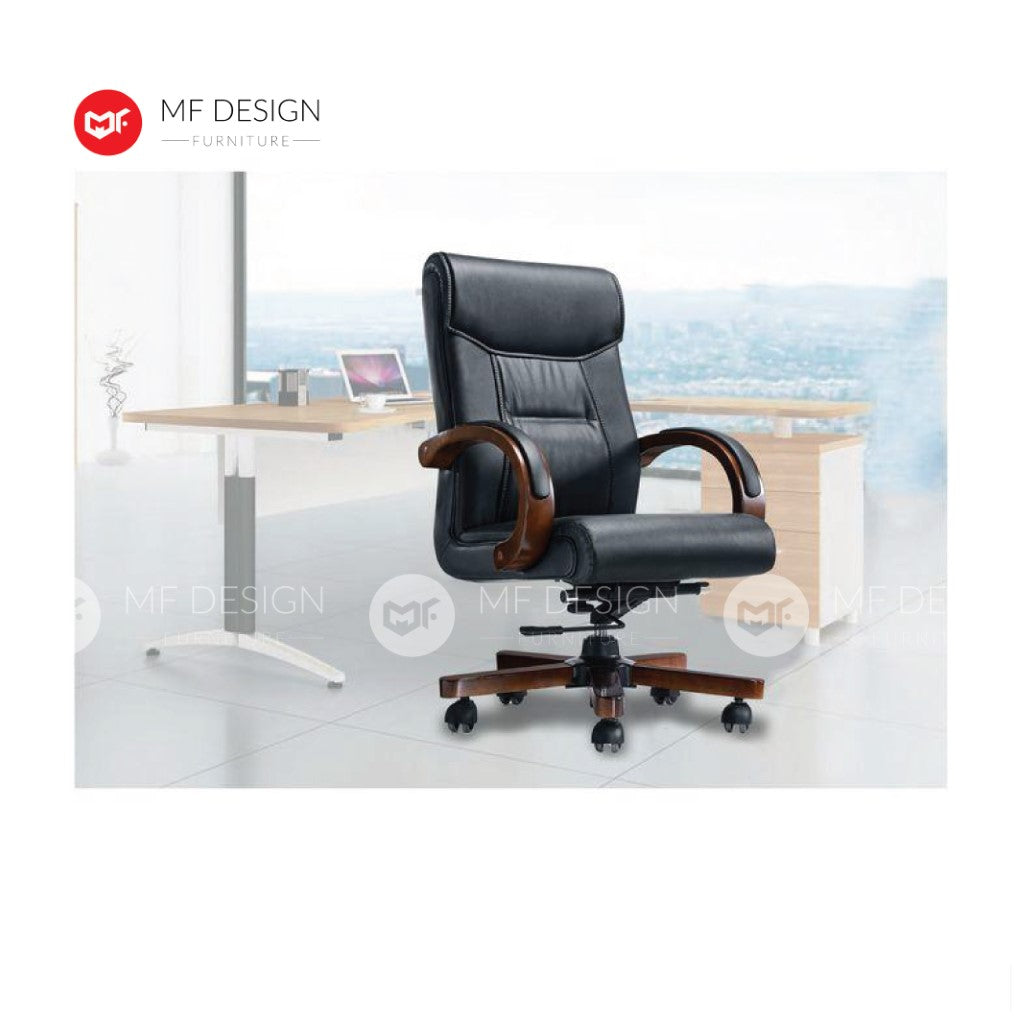 mf design kiss Office Chair & Chrome Leg / Kerusi Pejabat / Kerusi Roda /Height Adjustable Swivel / gaming kerusi office /