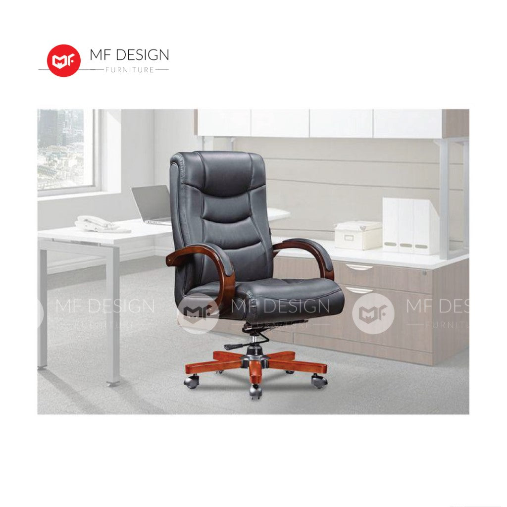 mf design kes Office Chair & Chrome Leg / Kerusi Pejabat / Kerusi Roda /Height Adjustable Swivel / gaming kerusi office /