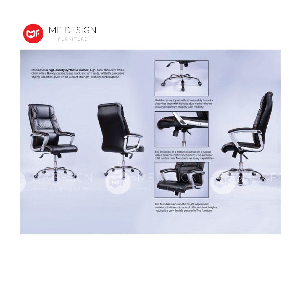 mf design lus Office Chair & Chrome Leg / Kerusi Pejabat / Kerusi Roda /Height Adjustable Swivel / gaming kerusi office /