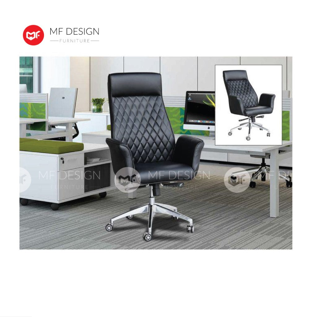 mf design Mesh Office Chair & Chrome Leg / Kerusi Pejabat / Kerusi Roda /Height Adjustable Swivel / gaming kerusi office /