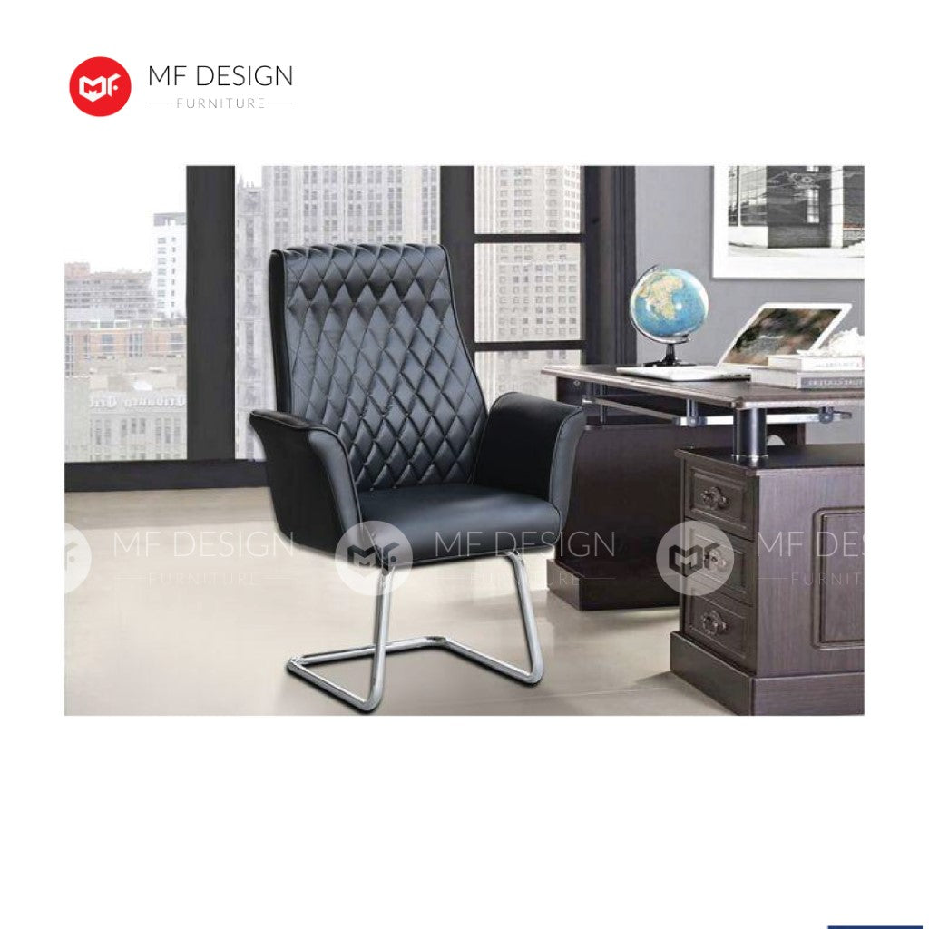 mf design occa Office Chair & Chrome Leg / Kerusi Pejabat / Kerusi Roda /Height Adjustable Swivel / gaming kerusi office /