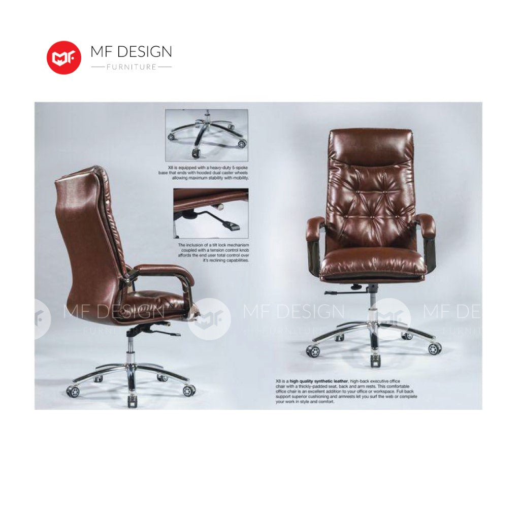 mf design kesh Office Chair & Chrome Leg / Kerusi Pejabat / Kerusi Roda /Height Adjustable Swivel / gaming kerusi office /