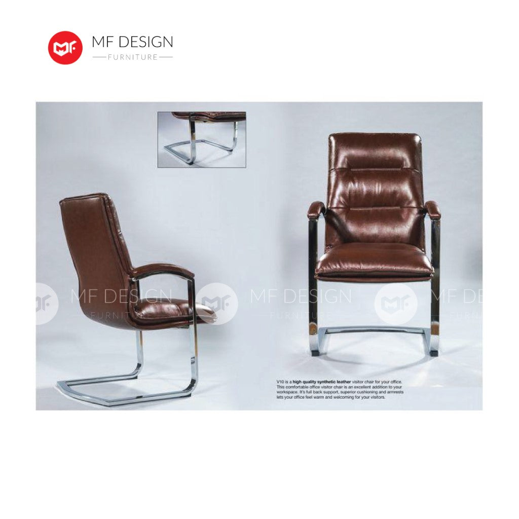 mf design expoly Office Chair & Chrome Leg / Kerusi Pejabat / Kerusi Roda /Height Adjustable Swivel / gaming kerusi office /