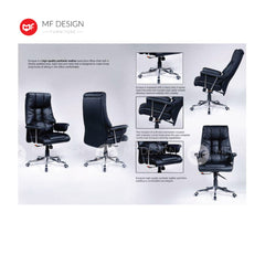 mf design ajen Office Chair & Chrome Leg / Kerusi Pejabat / Kerusi Roda /Height Adjustable Swivel / gaming kerusi office /