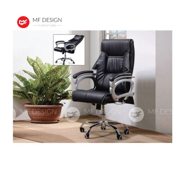 mf design lelax Office Chair & Chrome Leg / Kerusi Pejabat / Kerusi Roda /Height Adjustable Swivel / gaming kerusi office /