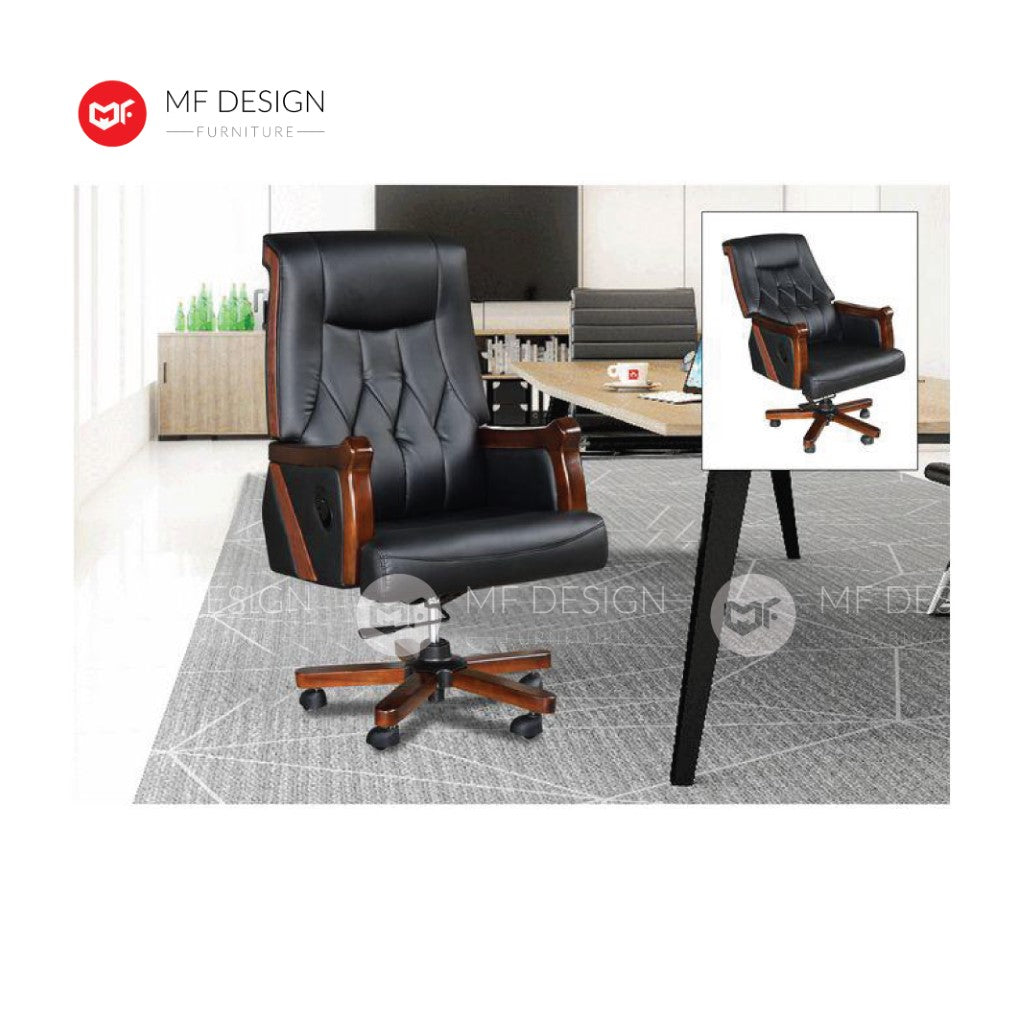 mf design Lios Office Chair & Chrome Leg / Kerusi Pejabat / Kerusi Roda /Height Adjustable Swivel / gaming kerusi office /